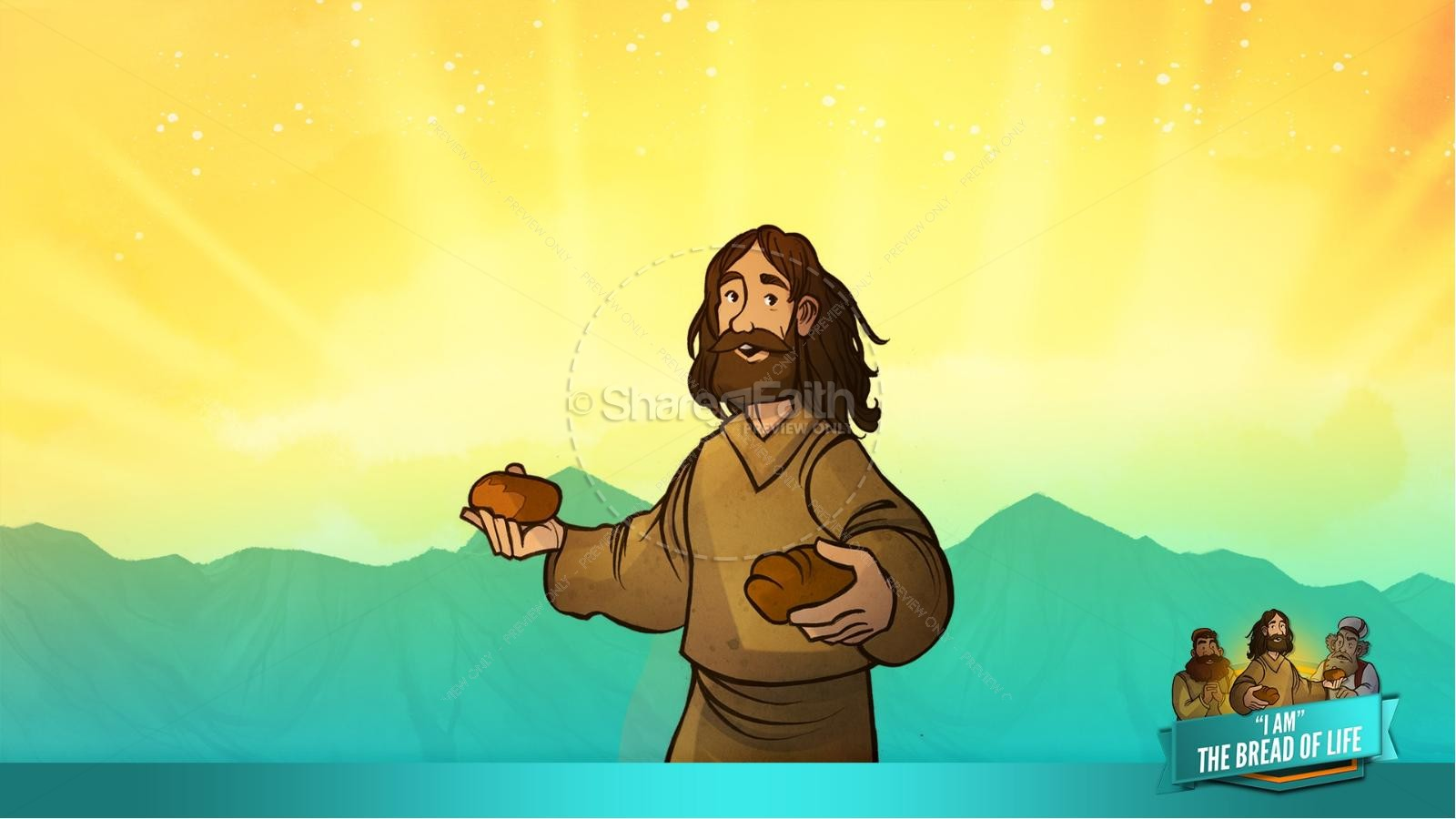 John 6 Bread of Life Kids Bible Stories | slide 34