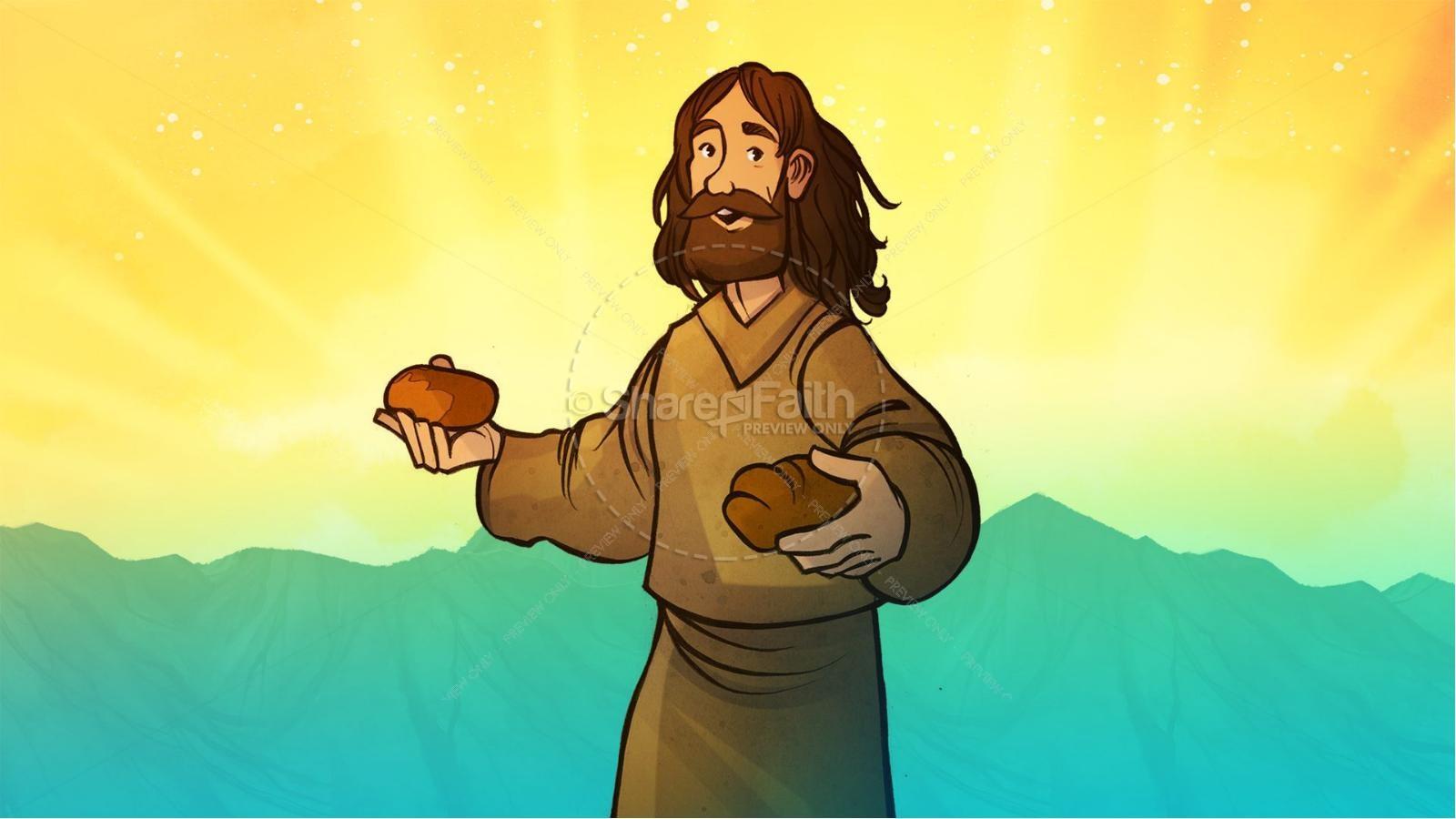 John 6 Bread of Life Kids Bible Stories | slide 8
