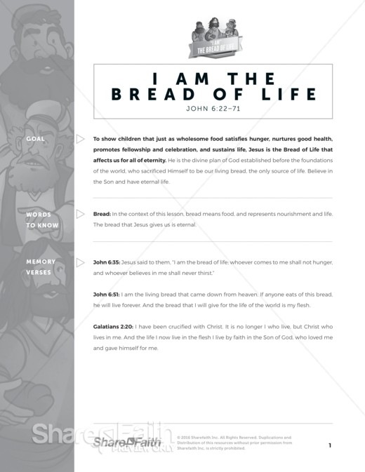 Bread of Life Curriculum