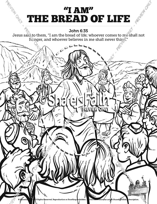 John 6 Bread of Life Sunday School Coloring Pages | Sunday School ...