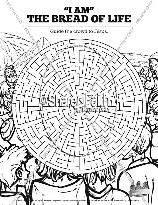 John 6 Bread of Life Bible Mazes