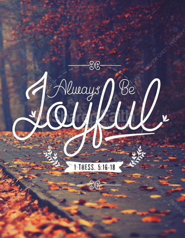 1 Thessalonians 5 Always Be Joyful Church Flyer
