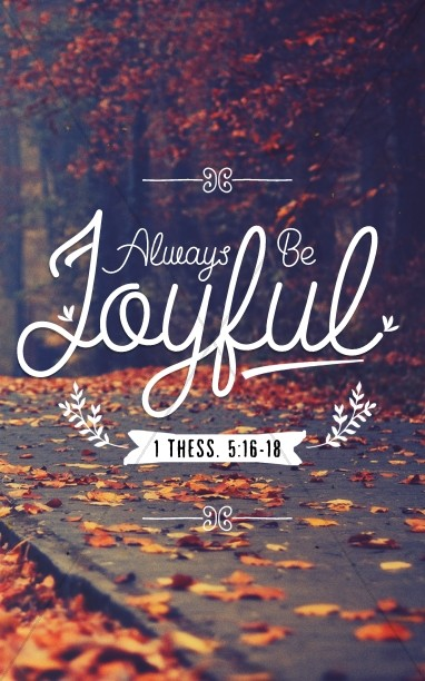 1 Thessalonians 5 Always Be Joyful Church Bulletin