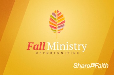 Fall Ministry Opportunities Video Loop