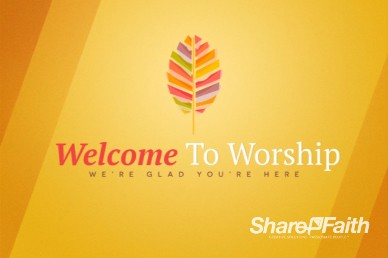 Fall Ministry Welcome Video Loop