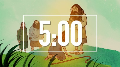 David and Goliath Bible Countdown Timer for Sunday School