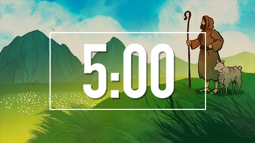 The Lord is my Shepherd Bible Countdown Timer for Sunday School