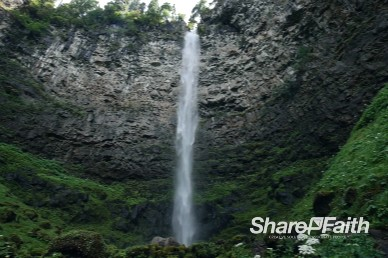 Towering Waterfall Video Background