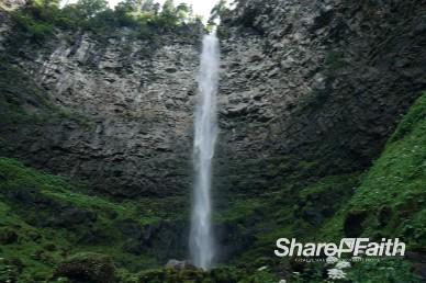 Towering Waterfall Video Background