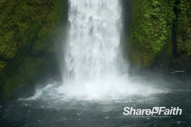 Magnificent Waterfall Video Background