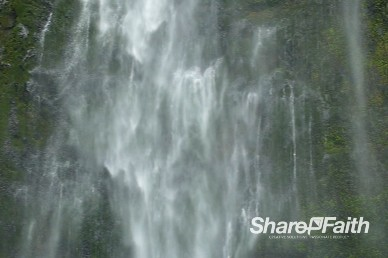 Cascading Mist Waterfall Video Background