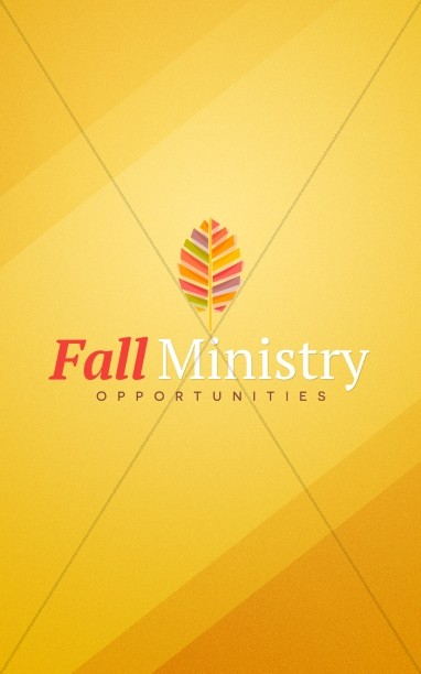 Fall Ministry Church Bulletin