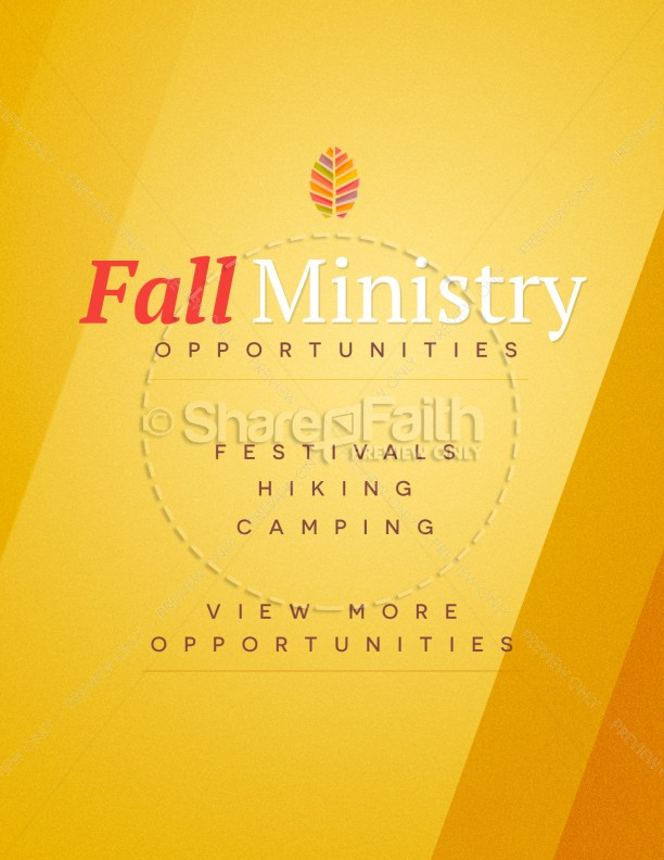 Fall Ministry Church Flyer