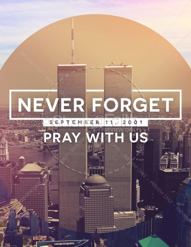 September 11 World Trade Center Memorial Flyer