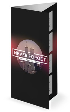 September 11 World Trade Center Memorial Trifold Bulletin