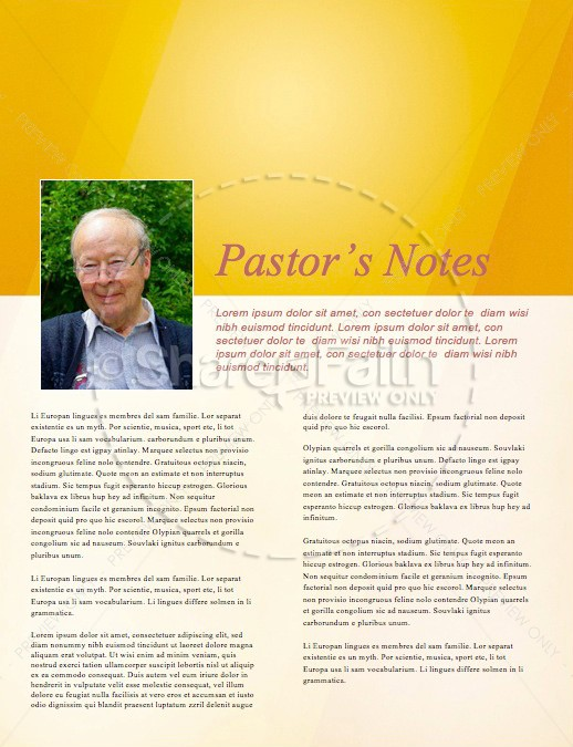 Fall Ministry Opportunity Church Newsletter Template
