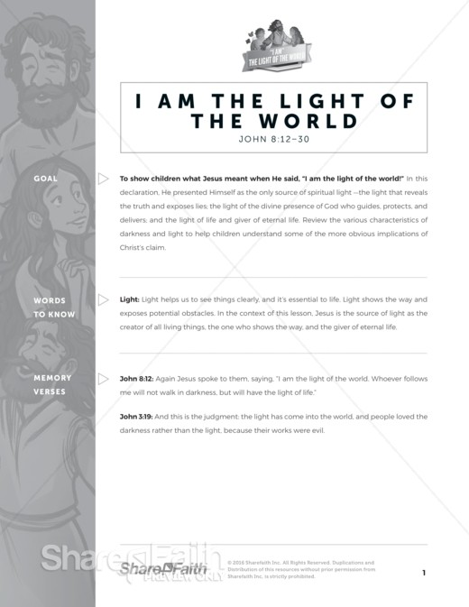 Light Of The World Curriculum