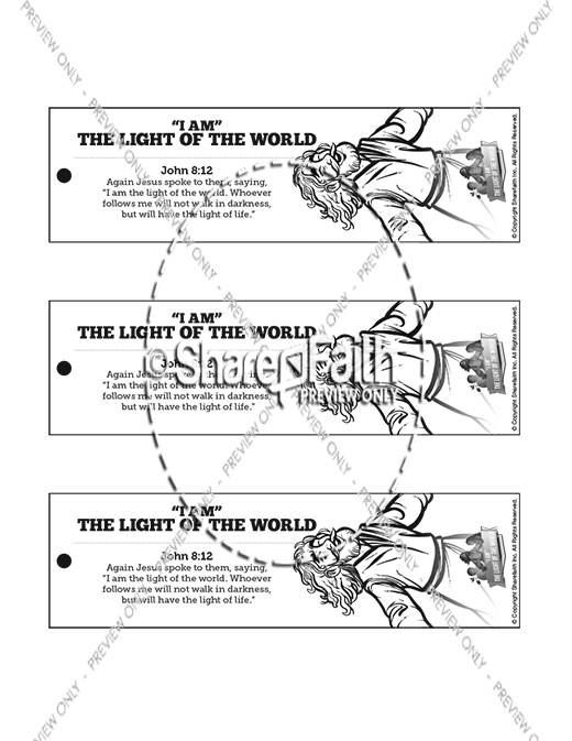 John 8 Light Of The World Bible Bookmarks