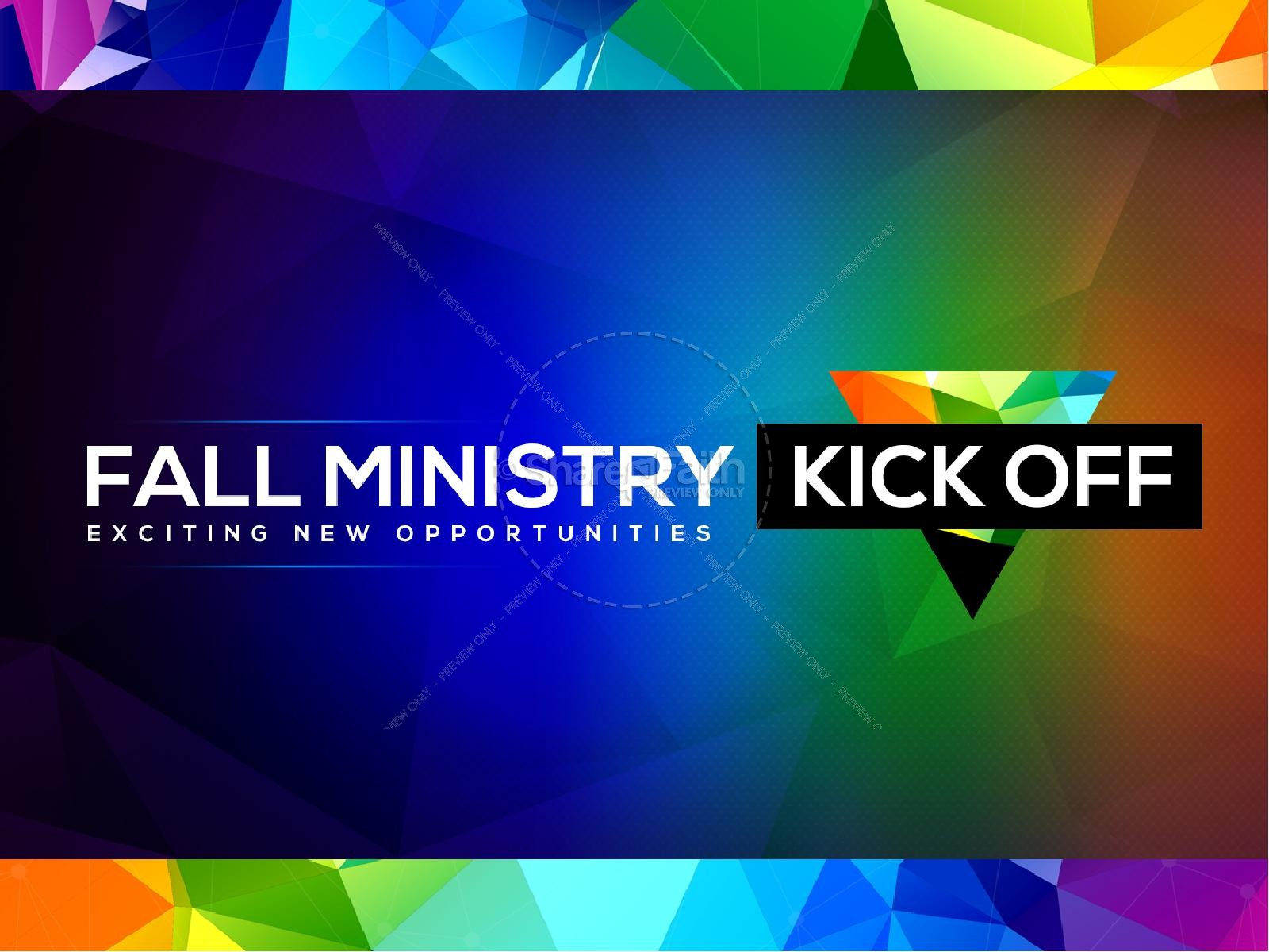 Fall Ministry Kick Off Church PowerPoint