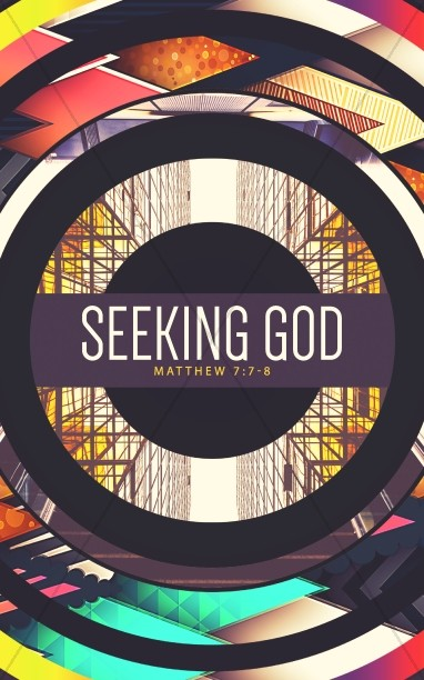 Seeking God Church Bulletin Design