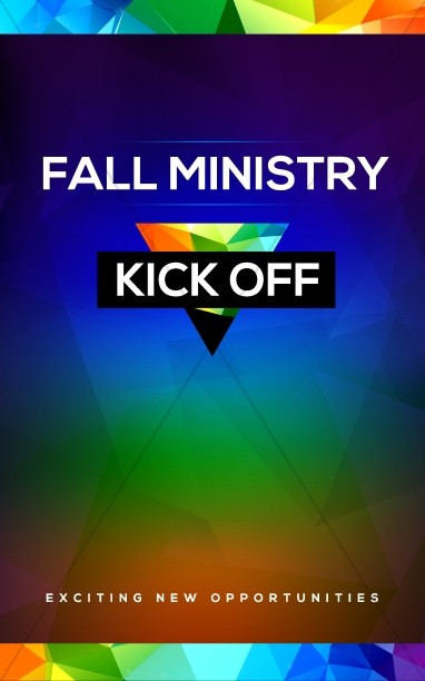Fall Ministry Kick Off Church Bulletin