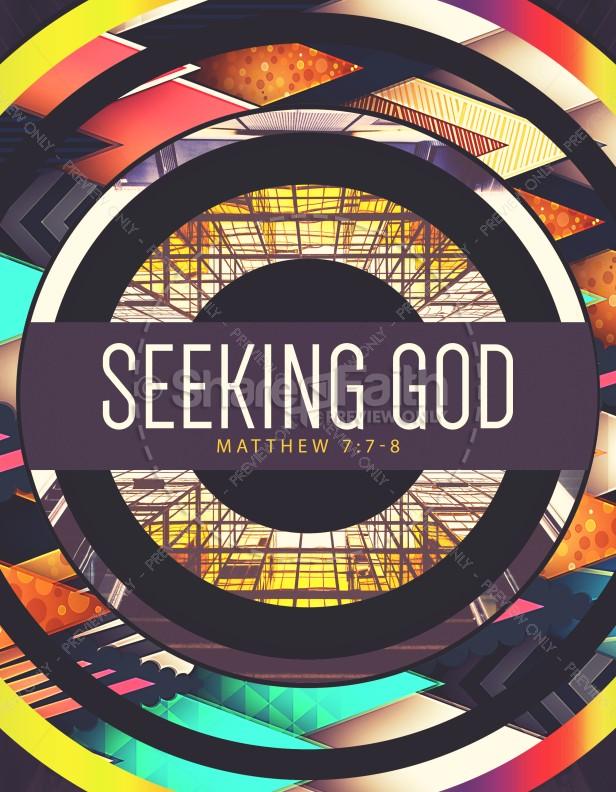 Seeking God Church Flyer Template