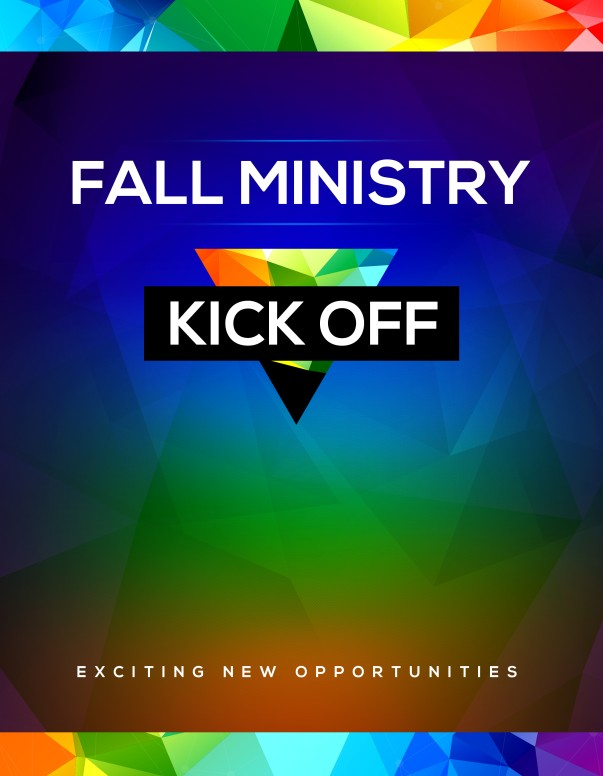 Fall Ministry Kick Off Church Flyer Template