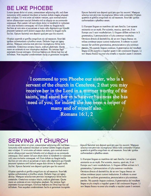 Fall Ministry Church Newsletter Template | page 2
