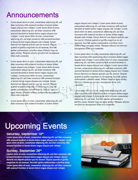 Fall Ministry Church Newsletter Template | page 4
