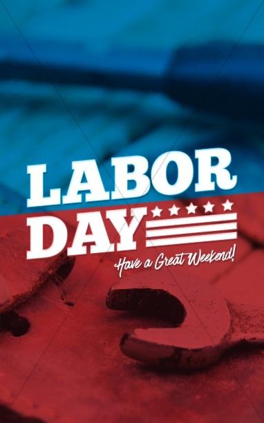 Labor Day Sermon Bulletin