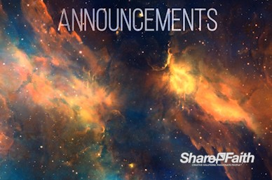 Starry Nebula Announcements Video Loop