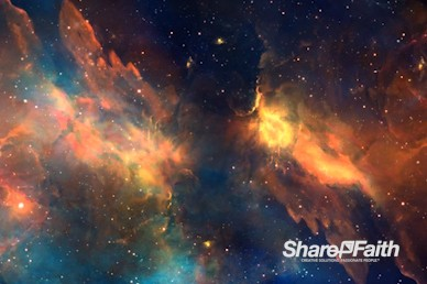 Starry Nebula Worship Video Background