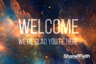 Starry Nebula Welcome Video Loop