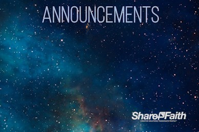 Stars in Space Announcement Video Loop