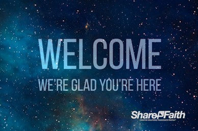 Stars in Space Welcome Video Loop