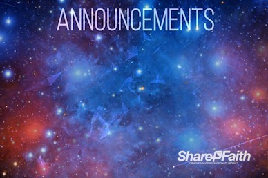 Stars and Galaxies Announcements Video