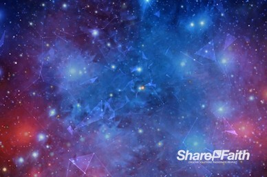 Stars and Galaxies Worship Video Background