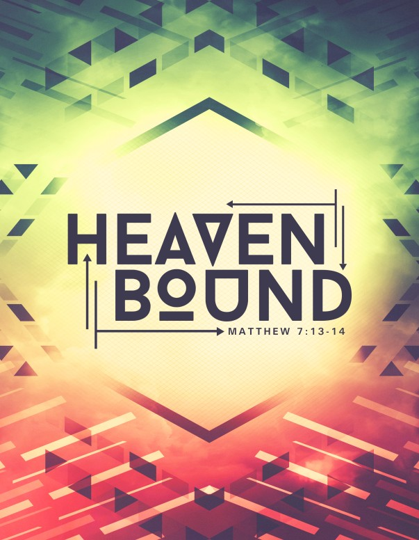 Heaven Bound Church Flyer Template