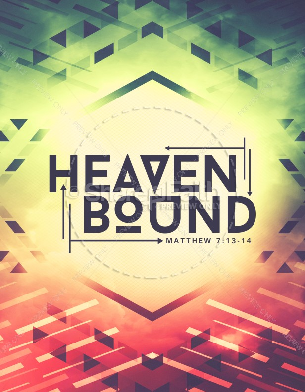 Beautiful Heaven Bound Church Flyer Template