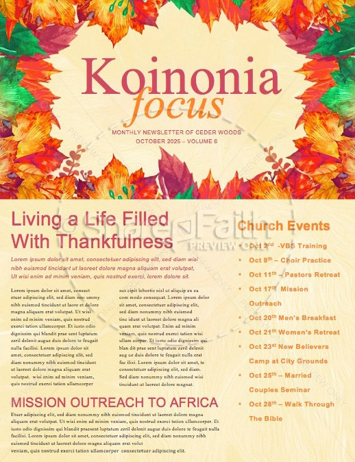 fall festival autumn leaves church newsletter template template