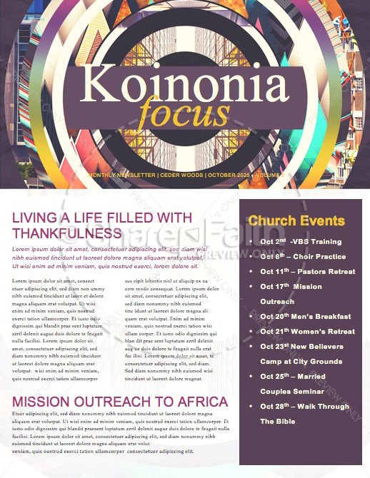 Seeking God Church Newsletter Template