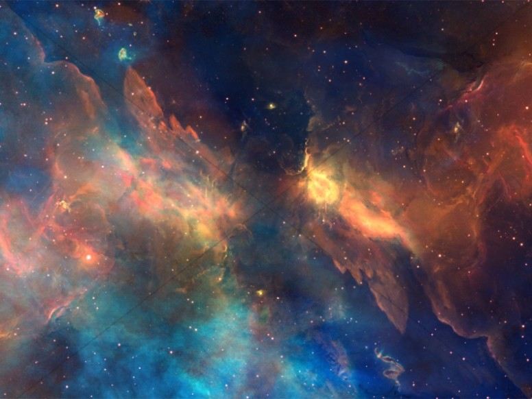 Starry Nebula Christian Worship Background