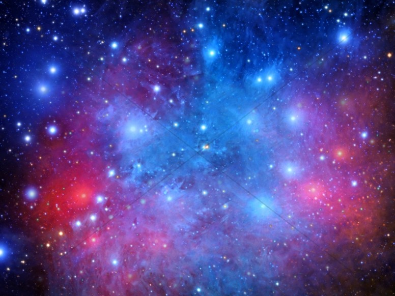 Stars and Galaxies Christian Worship Background