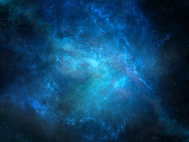 Blue Galaxy Christian Worship Background