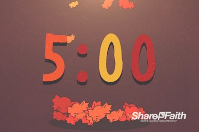 Trunk or Treat Harvest Festival Countdown Timer
