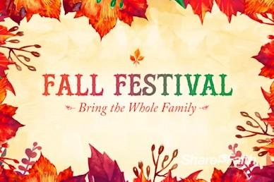 Fall Festival Autumn Leaves Video Loop