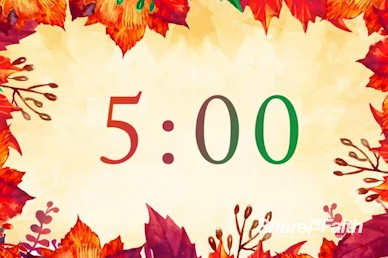 Fall Festival Autumn Leaves Countdown Timer