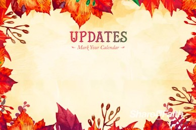 Fall Festival Autumn Leaves Announcements Video Loop