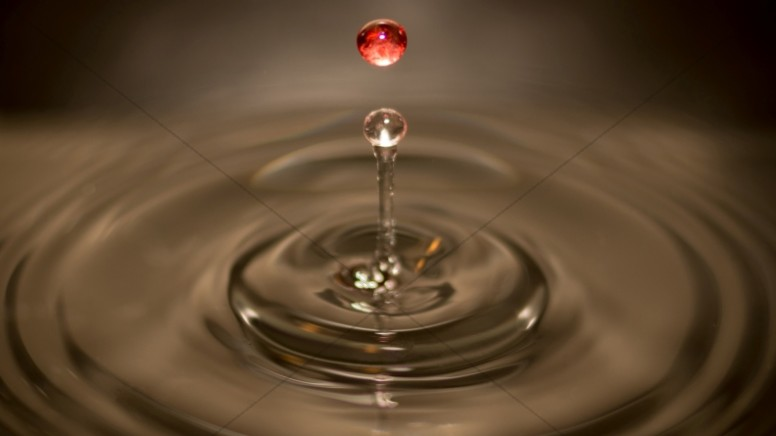 Blood and Water Ripple Christian Stock Photo