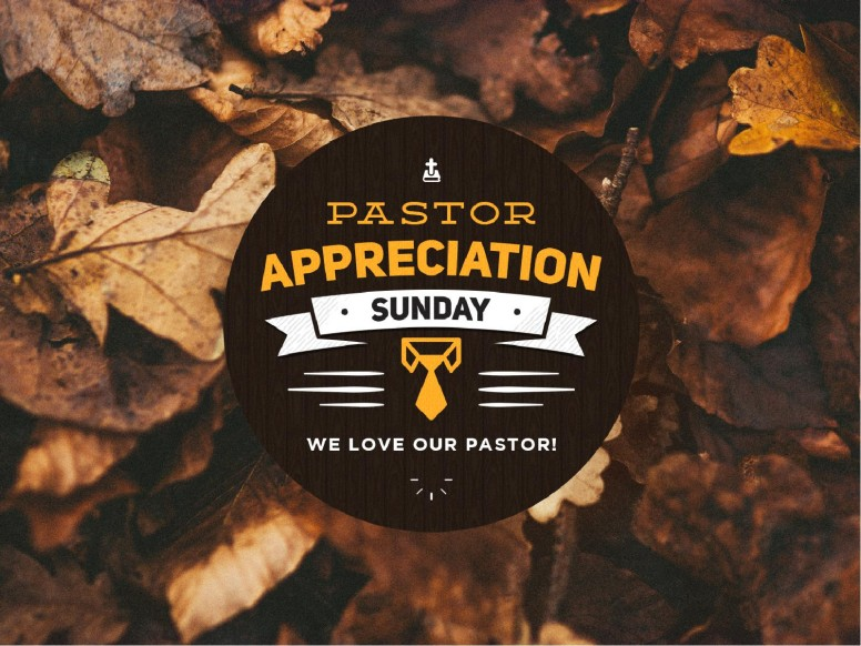 Pastor Appreciation Day Fall PowerPoint